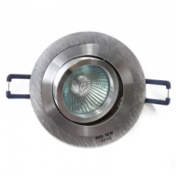 Empotrable GU10 50W redondo basculante aluminio