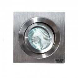 Empotrable GU10 50W cuadrado basculante acero