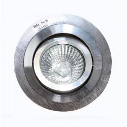 Empotrable GU10 50W redondo basculante plata