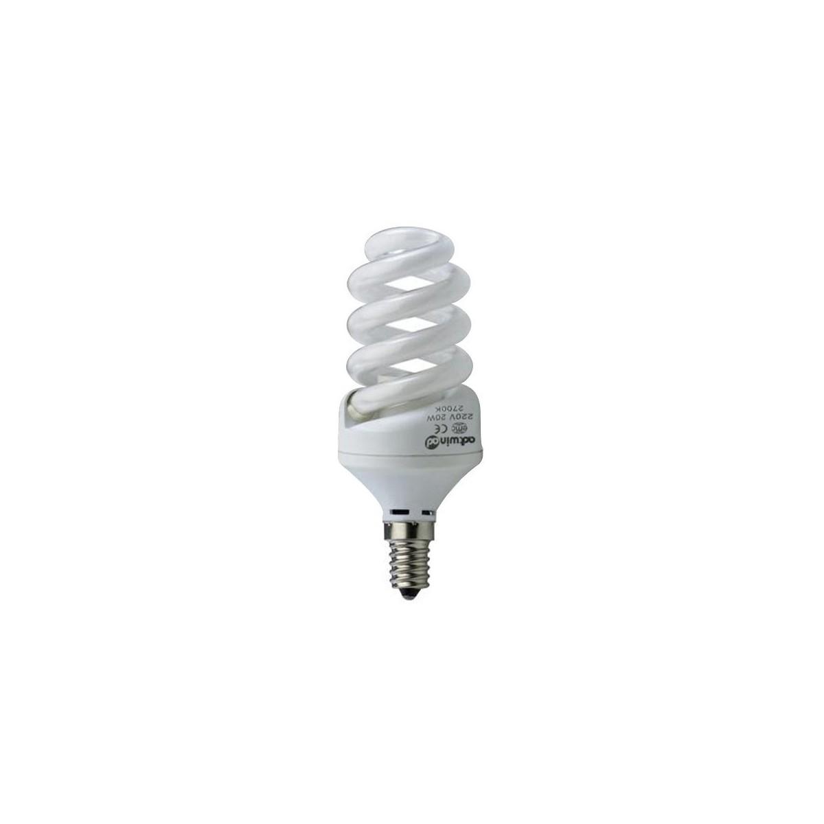 Bombilla bajo consumo E14, 25W, 4200K