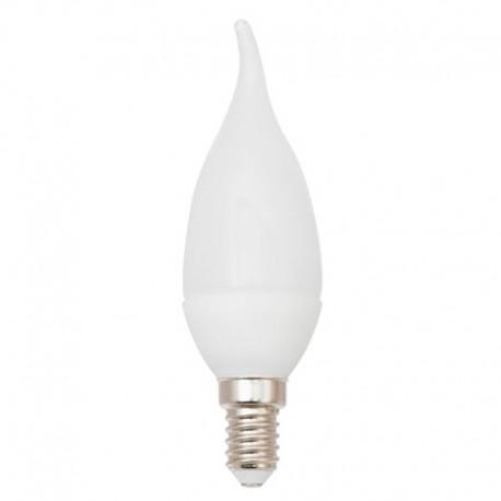 Bombilla LED E14 vela viento 9W, 410lm, 2700K