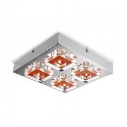 Lunne 4 Light Ceiling Lamp Orange