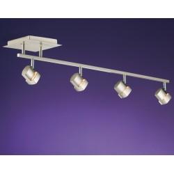 Moka 4 Spotlight Ceiling Bar – Nickel