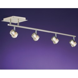 Moka 4 Spotlight Ceiling Bar – Nickel
