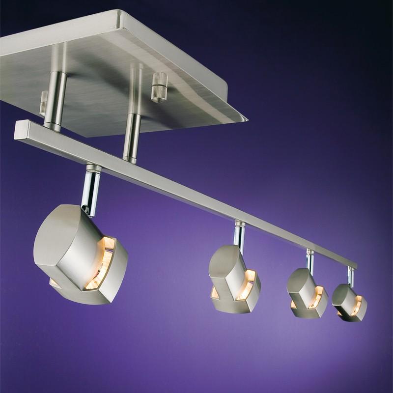 Moka 4 Spotlight Ceiling Bar Nickel