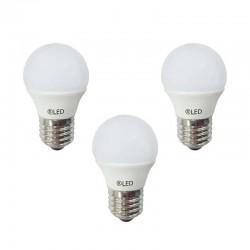 LED Bulbs Pack of 3xE27 5.2W 4000K 520LM