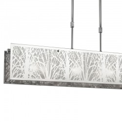 Japan 4-Light Pendant Lamp Rectangular