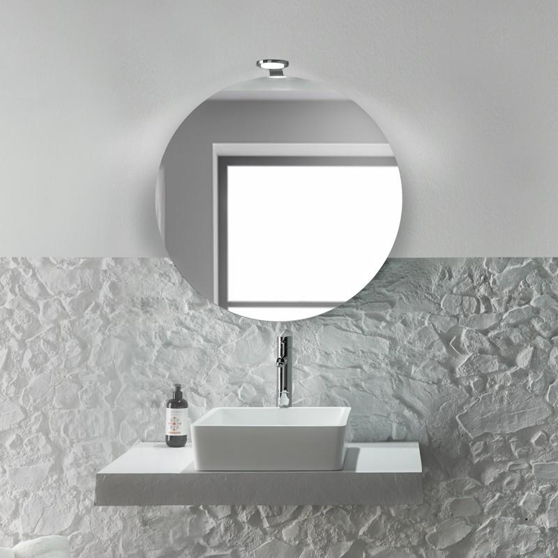 Aplique para ba o redondo con iluminacion led de 4w luz fria - Aplique bano led ...
