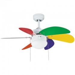 Ventilador 6 palas 76cm -  Tabit multicolor