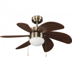 Tabit Ceiling Fan 84 cm Brown