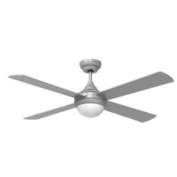 LED Ceiling Fan 132 cm 12W Tempo Silver