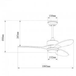 Ventilador 3 palas 105cm - Terre