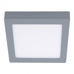 LEd flush ceiling lamp - square grey know