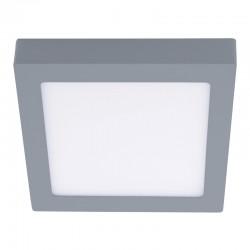 Plafon LED 18W 4000K Know cuadrado gris