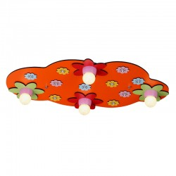 ORANGE BLOOM FLUSH CEILING LAMP