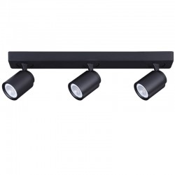 3 GU10 SPOTLIGHT CEILINGBAR HUM BLACK