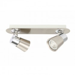 IRIS GU10 SPOTLIGHTS CEILING BAR NICKEL-CHROME