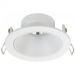 Zeus Fixed Recessed Light Round White IP23