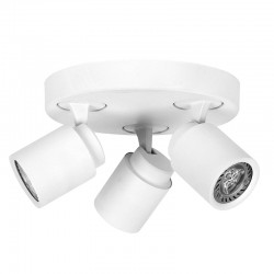 3 GU10 SPOTLIGHT CEILINGBAR HUM WHITE