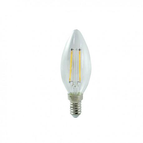 BOMBILLA VELA FILAMENTO LED E14 3,5W (2700ºK)