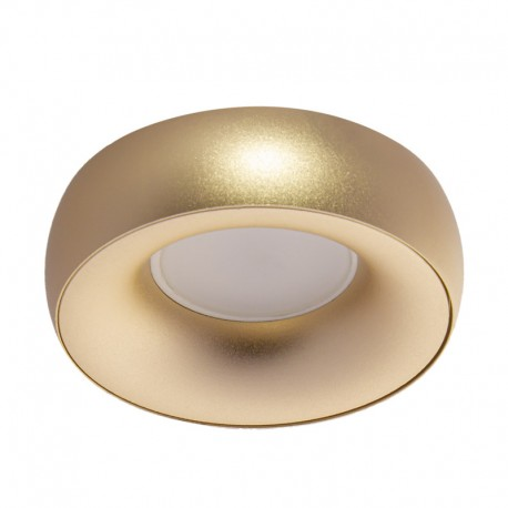 Round fixed recessed spotlight for low ceilings model gold ...