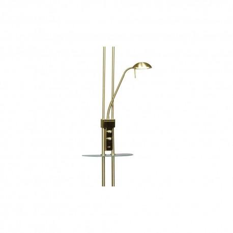 Alari LED Floor Lamp USB Antique Brass