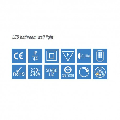 aplique baño led 6w 4000K madrid cromo