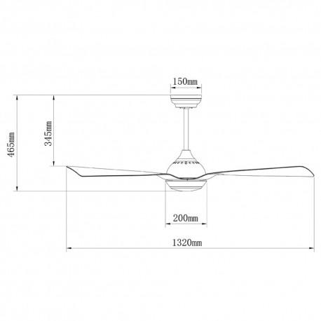Ventilador 3 palas 105cm - Bloq plata