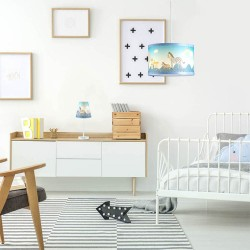 LAMPARA DE TECHO INFANTIL AZUL ANIMALES NOAH