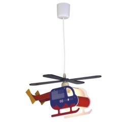 BRAVO BLUE HELICOPTER CHILDREN'S CEILING LIGHT