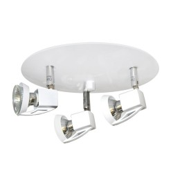 Arco 3 Spotlight Ceiling Plate – White