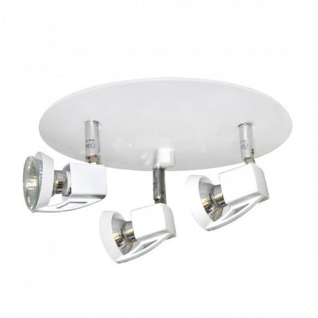 Plafón blanco 3 luces Arco