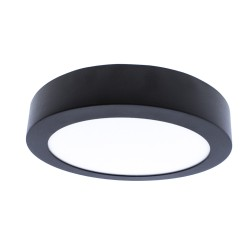 LED Flush Mount 18W IP54 4000K 680lm Know Round Anthracite Grey