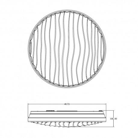 Plafón LED 72W, 4500lm regulable SILVY