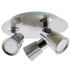 Iris 3-Light GU10 25cm Ceiling Spotlight Nickel