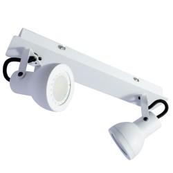 Heli White 2-Light GU10 Spotlight