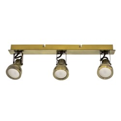 Heli Brass 3 -Light 44cm Track Kit Spotlight