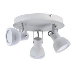 Heli White 3-Light 21cm Ceiling Spotlight