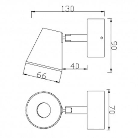 Foco LED 5W ICE níquel