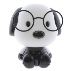 BLACK PUPPY TABLE LAMP FOR CHILDREN