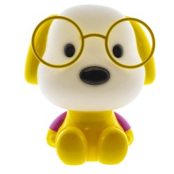 Yellow Puppy Nursery Table Lamp
