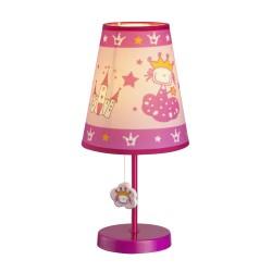 LAMPARA DE MESA INFANTIL ROSA PRINCESS