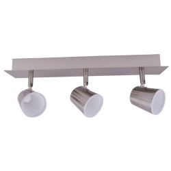 3 spotlights LED 10W ICE nickel