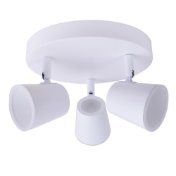 Ceiling lamp 3 spotlights 15W ice white