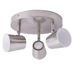 Ice Nickel 3-Light 25cm Ceiling Spotlight 15W