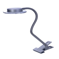 Lámpara Led sobremesa orientable con pinza