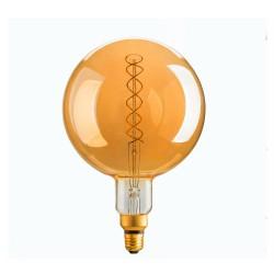 Amber Glass LED Bulb G200 E27 8W 2000K Dimmable