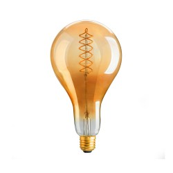 Amber Glass LED Bulb PS40 E27 8W 2000K Dimmable