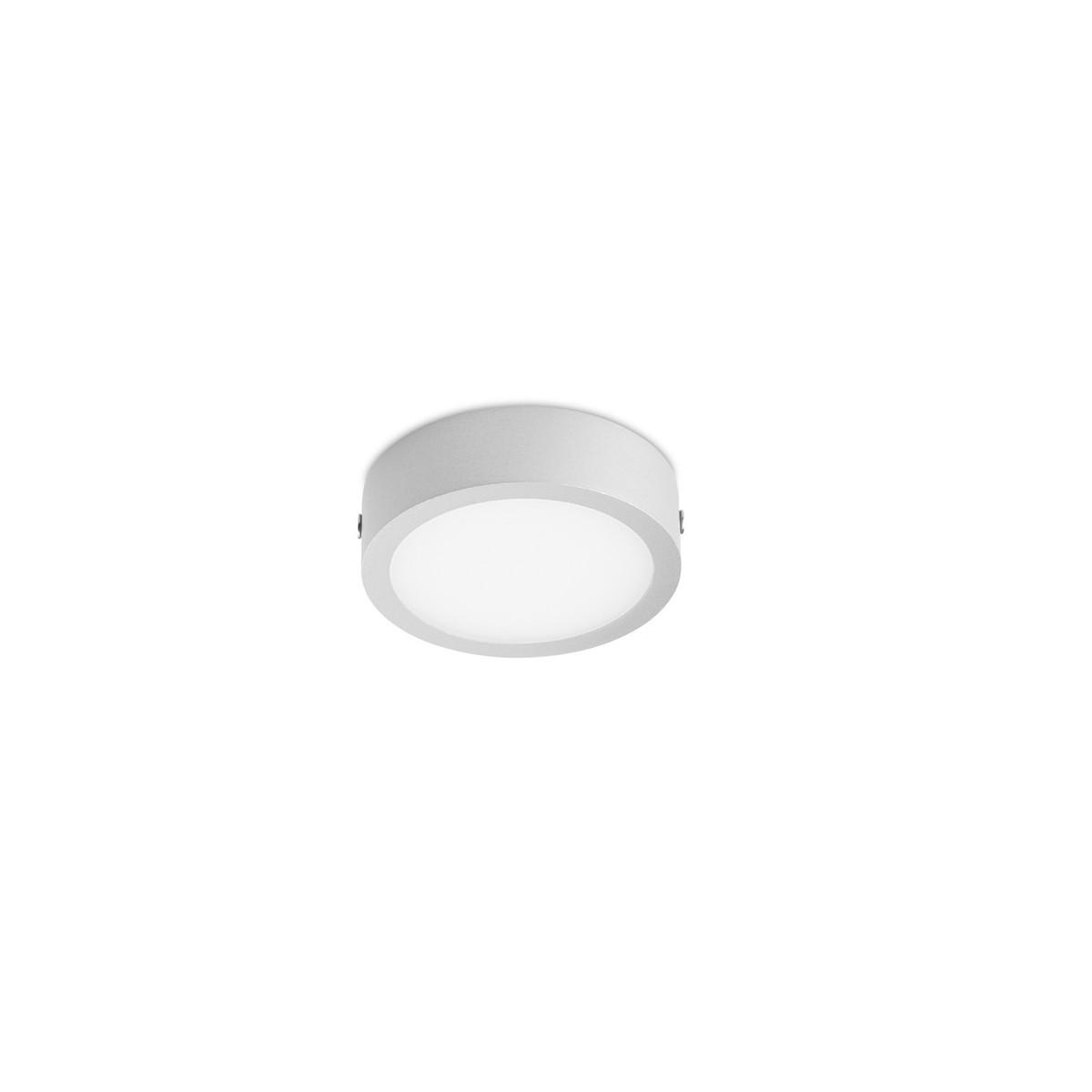 Downlight LED de superfie 8W 3000K Kaju gris