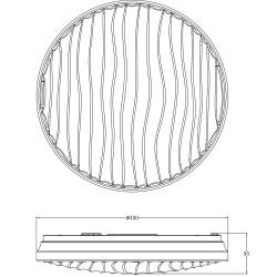 Plafón LED 40W, 2950lm regulable SILVY